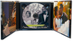 Gorgeous Wedding DVD Case with Magnetic Closure